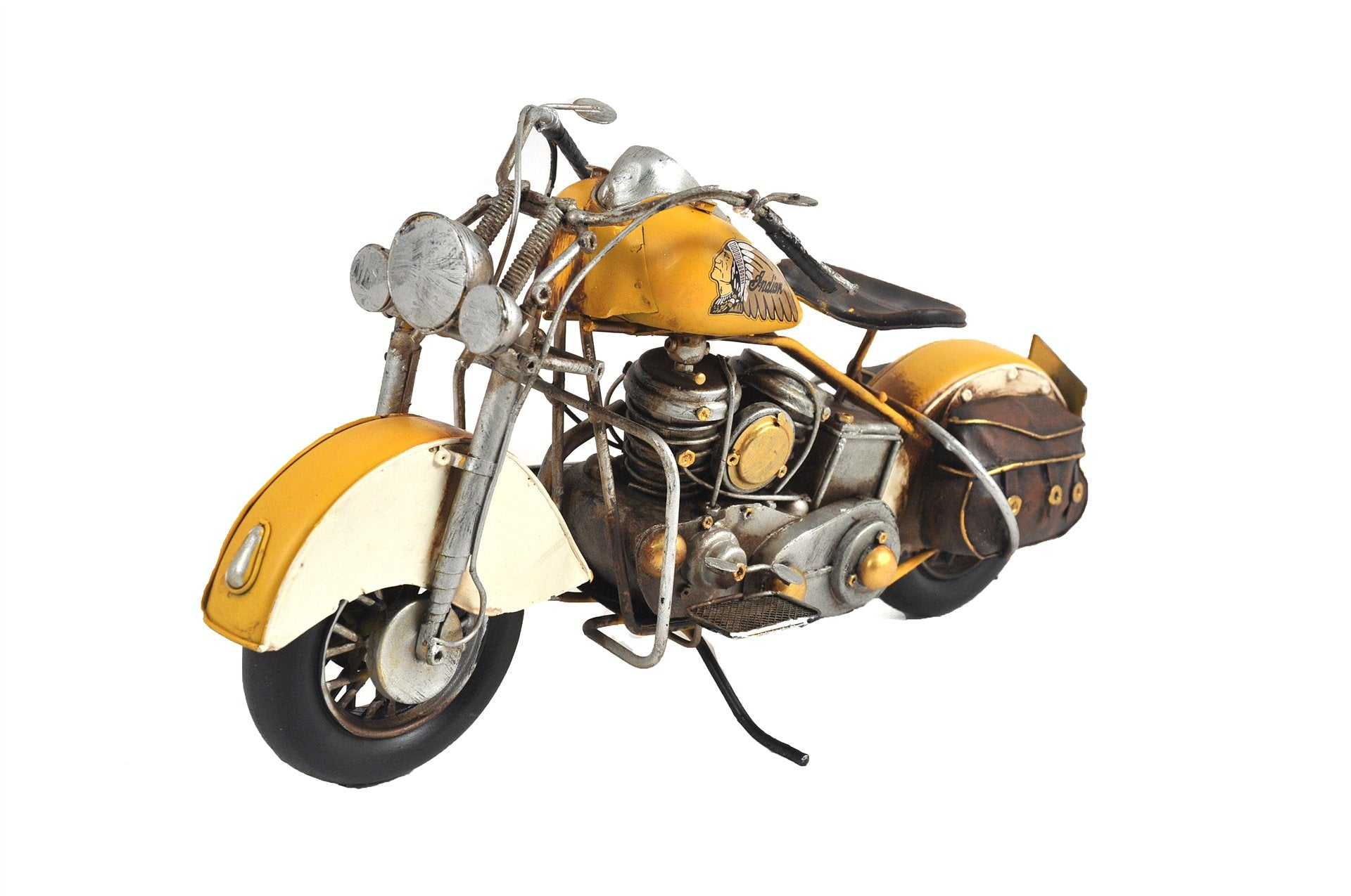 MINIATURE YELLOW MOTORCYCLE