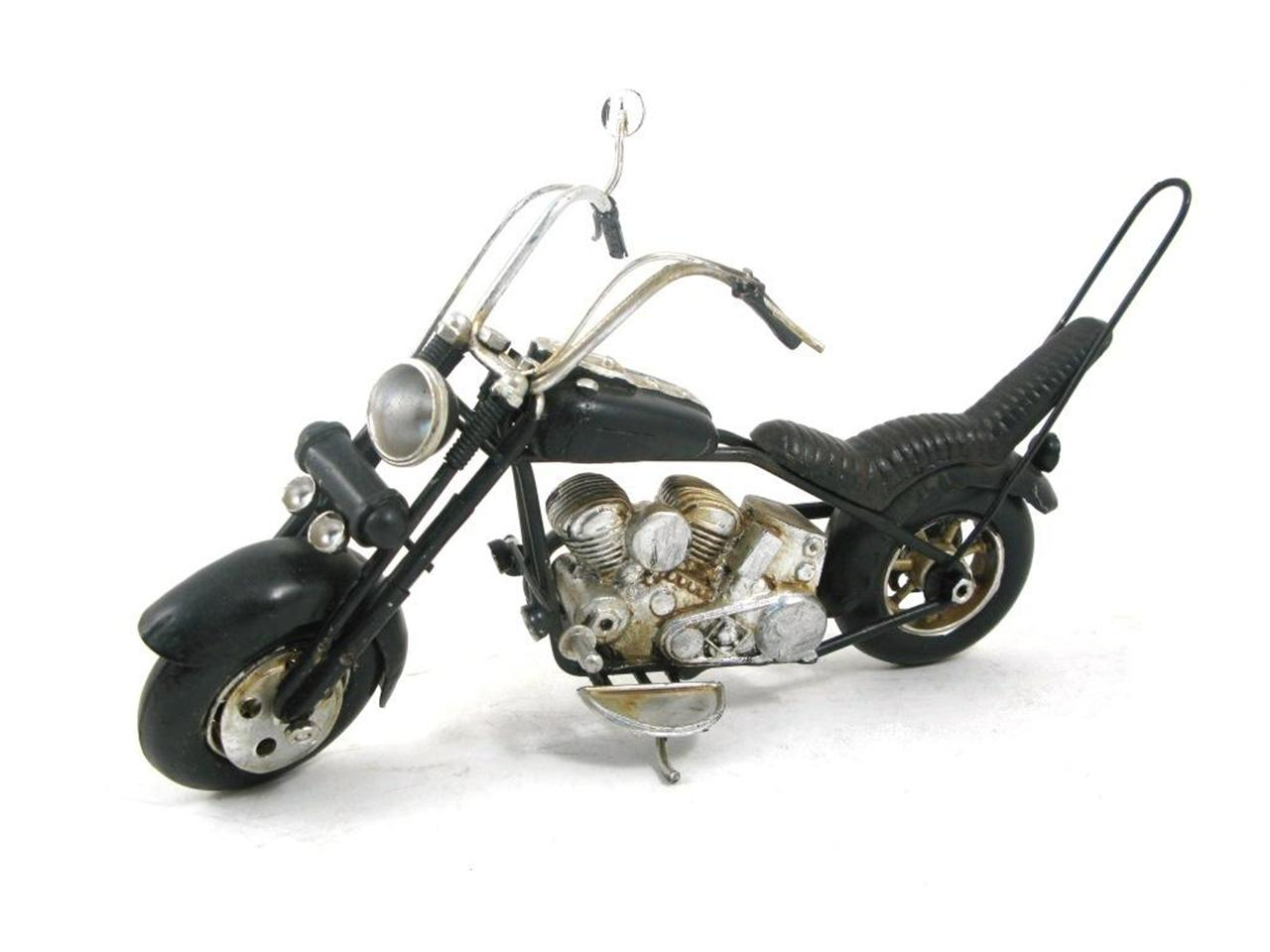MINIATURE BLACK MOTORCYCLE