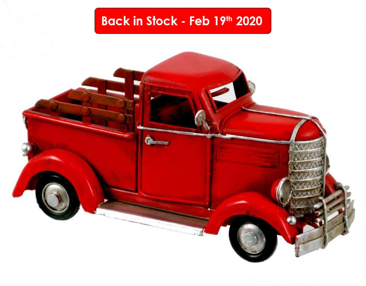 MINIATURE RED PICKUP TRUCK