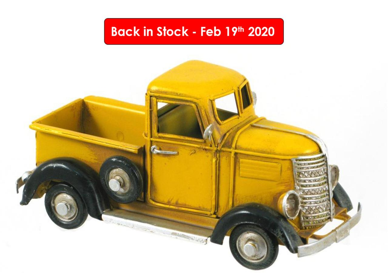 MINIATURE YELLOW PICKUP TRUCK