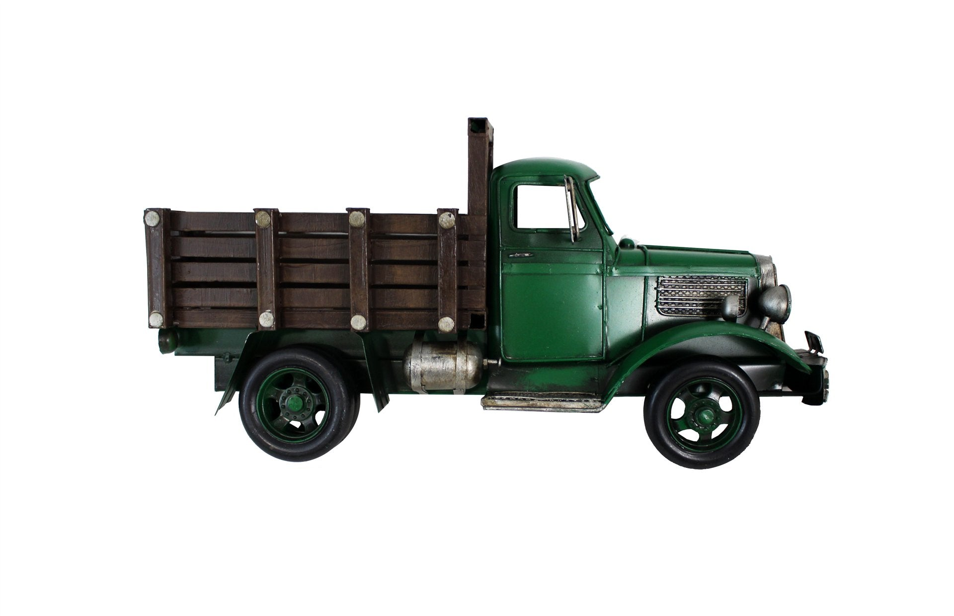 MINIATURE GREEN FARM TRUCK WITH WALL HANGER