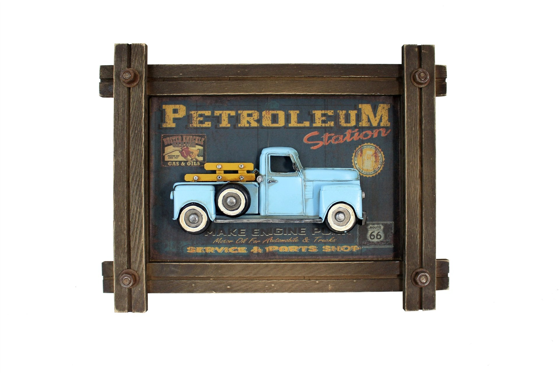 BLUE TRUCK SHADOW BOX