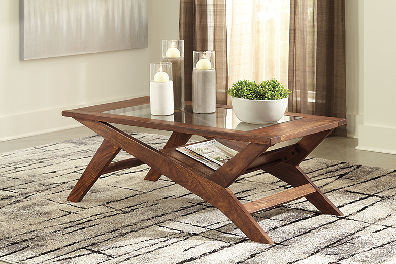 Charzine Coffee Table (Warm Brown) (T248-1-I)