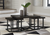 Airdon Coffee Table with Stools (Set of 3) (Bronze) (T394-1-I)