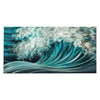 Modern Metal Art - Teal Wave