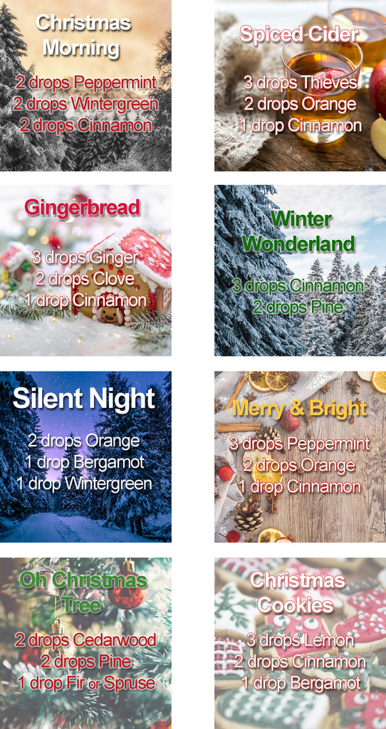 Holiday Essential Oil Diffuser Blends Christmas