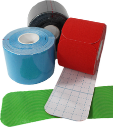 3 Pack Kinesiology Tape - Pre-Cut Rolls