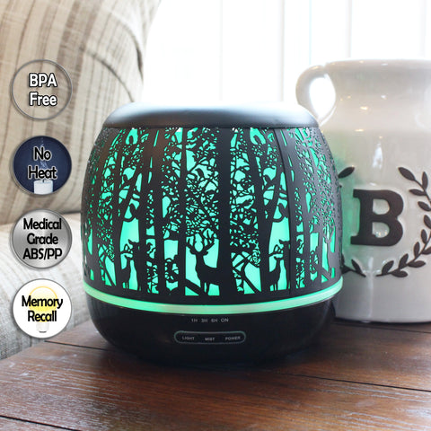 Whispering Woods 500mL Essential Oil Diffuser, Black