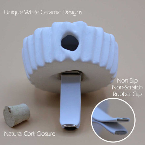 Image of Ceramic Vent Clip Diffuser Set, Owl & Sunflower