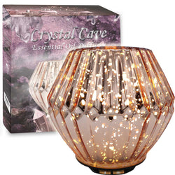 Crystal Cave 100mL Essential Oil Diffuser, Rose Gold