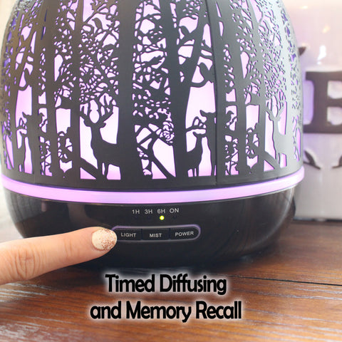 Image of Whispering Woods 500mL Essential Oil Diffuser, Black