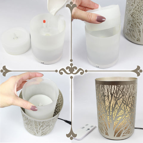 Image of Enchanted Forest Essential Oil Diffuser in Brushed Silver