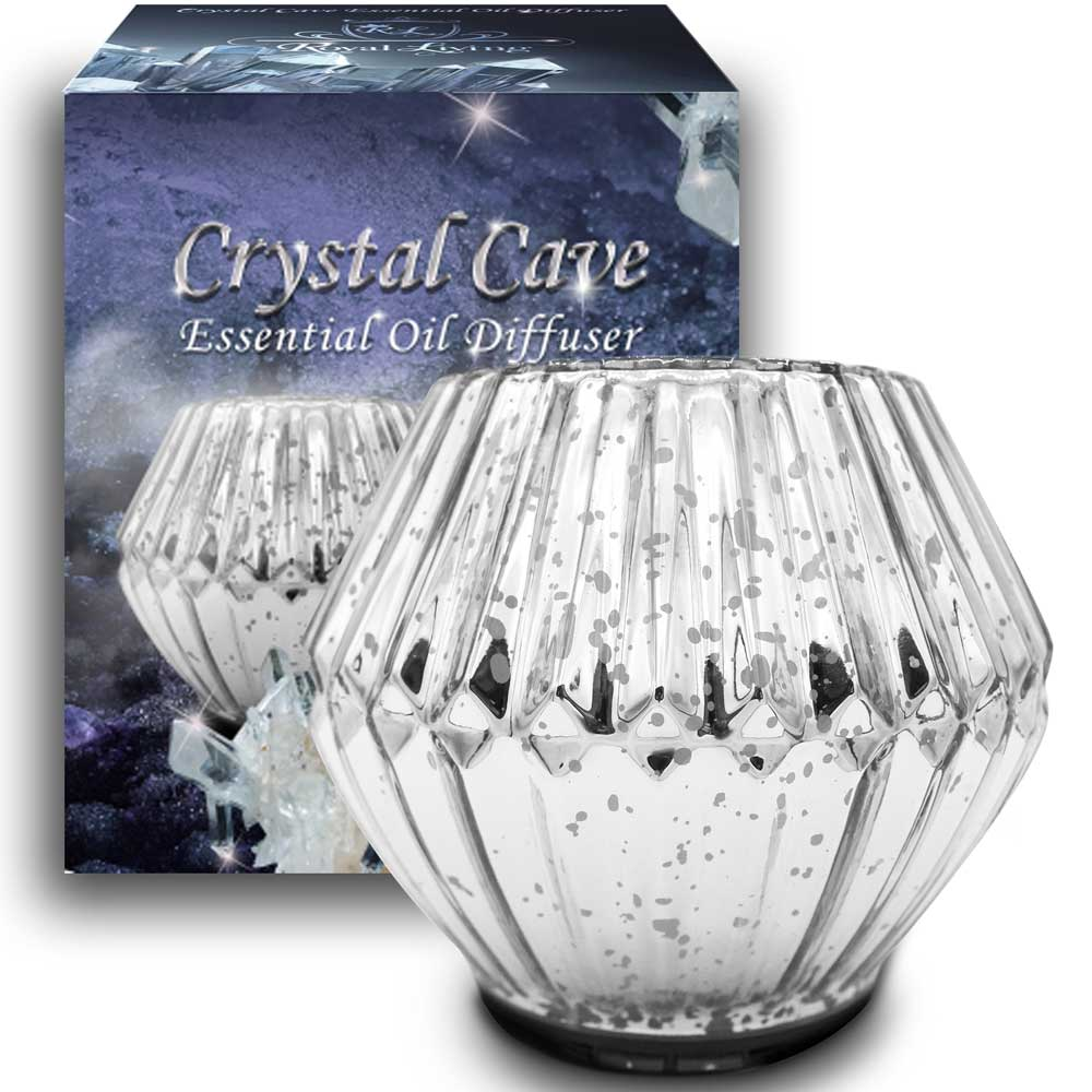 Crystal Cave 100mL Essential Oil Diffuser, Silver