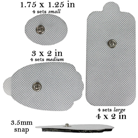 Image of Sizes of electrode pads