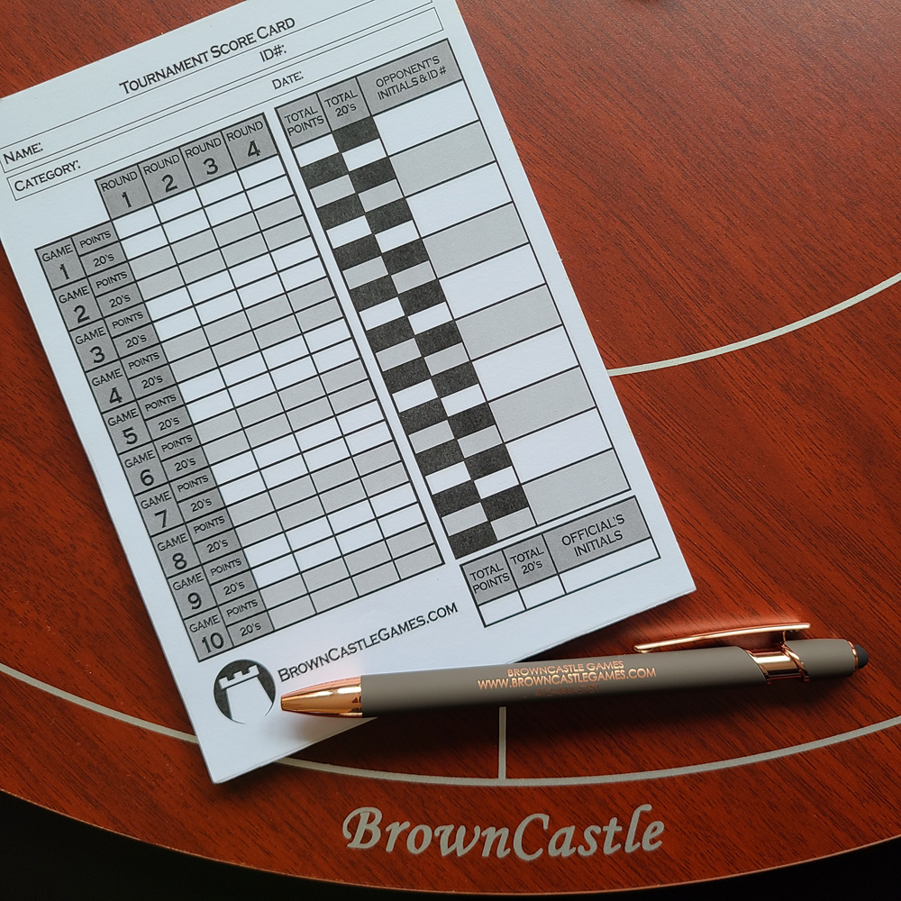 crokinole tournament score pad sheet