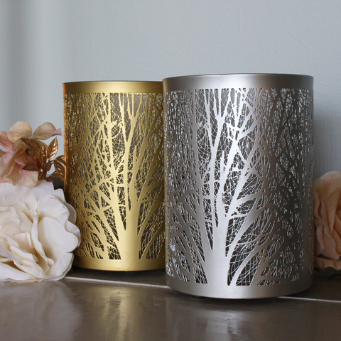 Enchanted Forest Essential Oil Diffuser in Brushed Silver