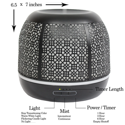 Image of Secret Garden 500mL Essential Oil Diffuser, Black (Open Box)