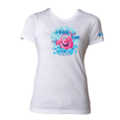 Mr. Bubble, It's Bubble Time Womens Tee - White