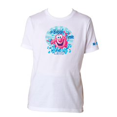 Mr. Bubble, It's Bubble Time Kids Tee - White