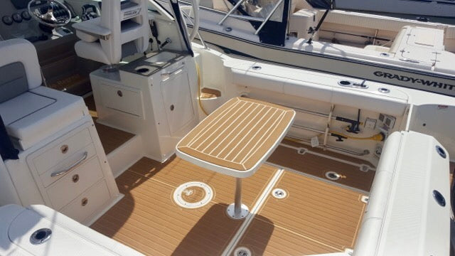 Boston Whaler: Brushed Faux Teak Custom SeaDek Install