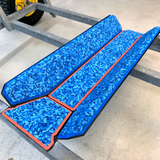 Aqua Camo Over Orange Dolly Padding