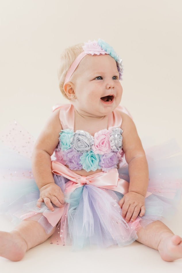Smash Cake Tutu, 1st Birthday Tutu, First Birthday Tutu, Smash Cake Tutu Set, Baby Tutu, Toddler Tutu, Birthday Tutu, Smash Cake Props, 1st Birthday Photo, Photo Prop, Photo Smash Cake Tutu, Lavender Pink and Aqua Smash Cake - Little Ladybug Tutus