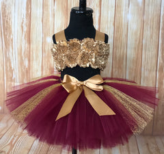 Smash Cake Tutu, 1st Birthday Tutu, First Birthday Tutu, Birthday Tutu, Smash Cake Props, 1st Birthday Photo, Photo Prop, Photo Shoot Tutu, Beauty and the Beast Themed Smash Cake Set, Belle 1st Birthday Tutu, Burgundy and Gold Smash Cake Tutu Set - Little Ladybug Tutus