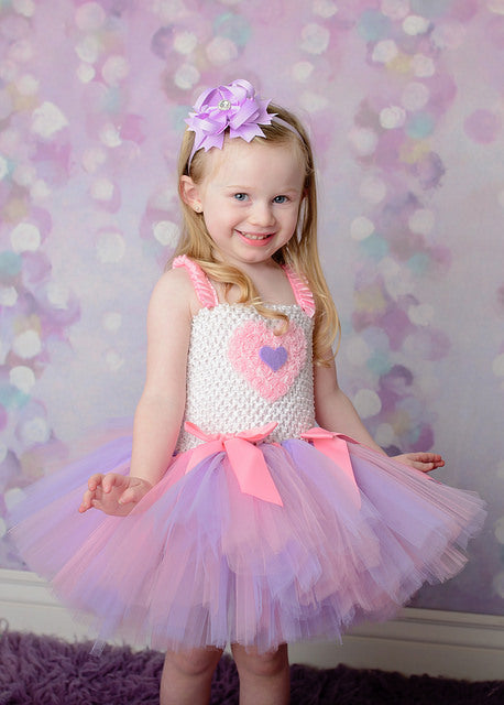 Valentines Day Lavender and Pink Tutu Dress