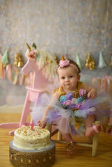 Unicorn Smash Cake Tutu Set, First Birthday Tutu - Little Ladybug Tutus