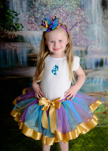 Mermaid Tutu, Girls Mermaid Outfit, Mermaid Dress