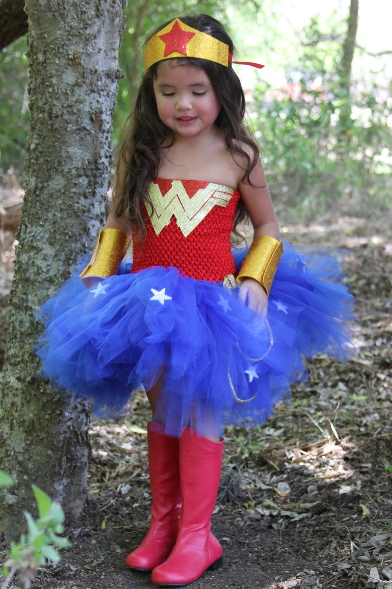 Wonder Woman Tutu, Wonderwoman Halloween Costume  Little -7928