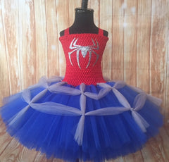 Spiderman Tutu, Spiderman Dress Costume, Girls Spiderman Party Dress - Little Ladybug Tutus