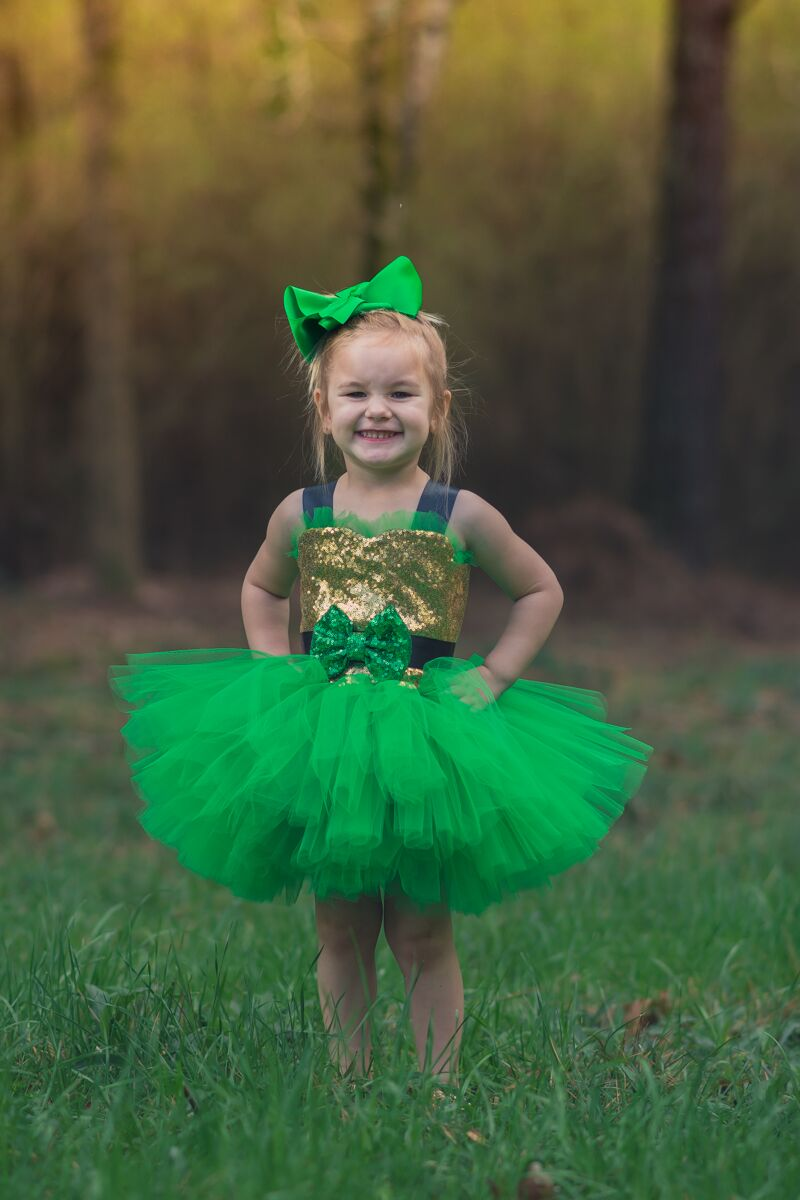 St. Patrick's Day Tutu, Girls Leprechaun Tutu Costume, Irish Tutu Dress for Girls - Little Ladybug Tutus