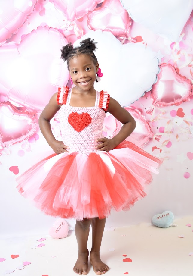 Valentine's Tutu Dress, Pink & Red Valentines Tutu