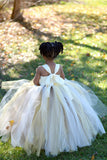 Sunflower & Burlap Tutu Dress, Sunflower Flower Girls Dress, Fall Wedding Flower Girl - Little Ladybug Tutus