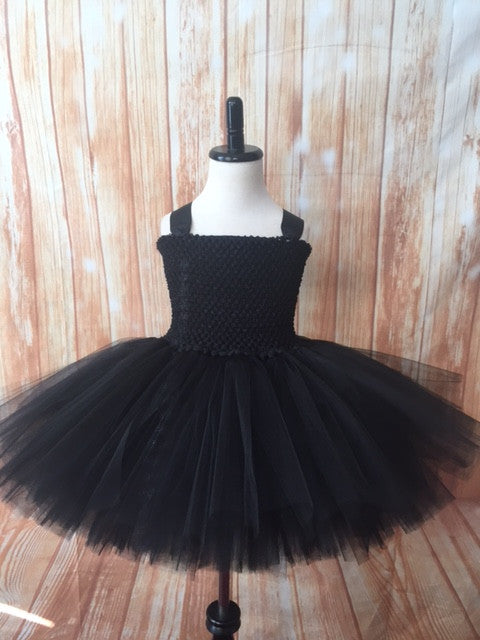 Black Tutu, Girls Black Tutu, Girls Black Tutu Dress, Girls Black Pageant Tutu - Little Ladybug Tutus