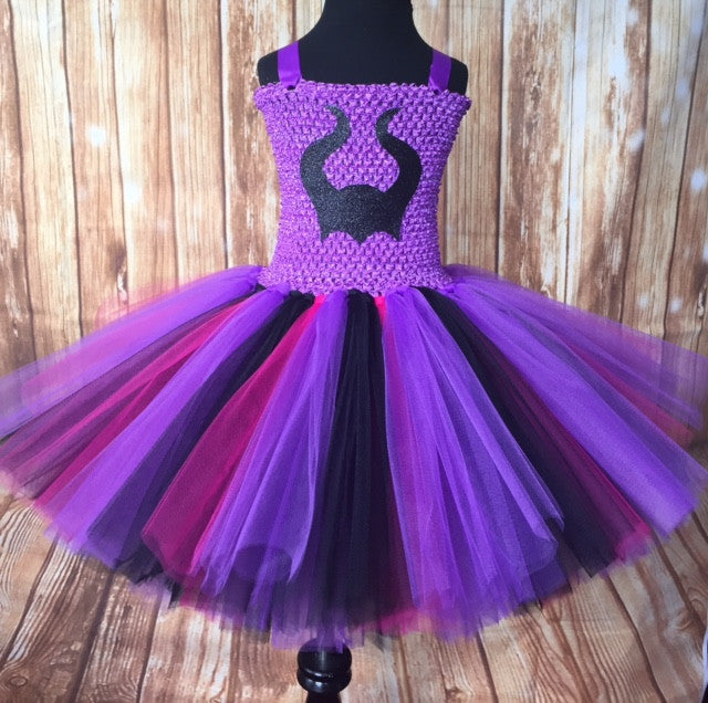 Descendants Tutu, Disney Descendants Costume, Girls Descendants Tutu, Maleficent Tutu, Mal Tutu Dress