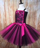 Monster High Tutu, Draculaura Tutu, Draculaura Costume, Girls Monster High Draculaura - Little Ladybug Tutus