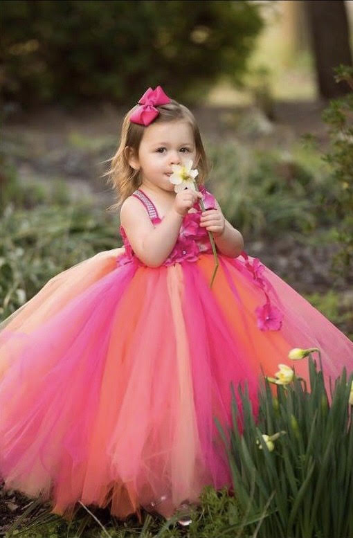 Fuchsia Tutu, Fuchsia Girsl Tutu Dress, Fuchsia Flower Girl Dress, Hot Pink Tutu Dress