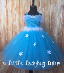 Elsa Tutu, Girls Elsa Costume, Elsa Tutu Dress, Princess Elsa Dress, Frozen Tutu Dress - Little Ladybug Tutus