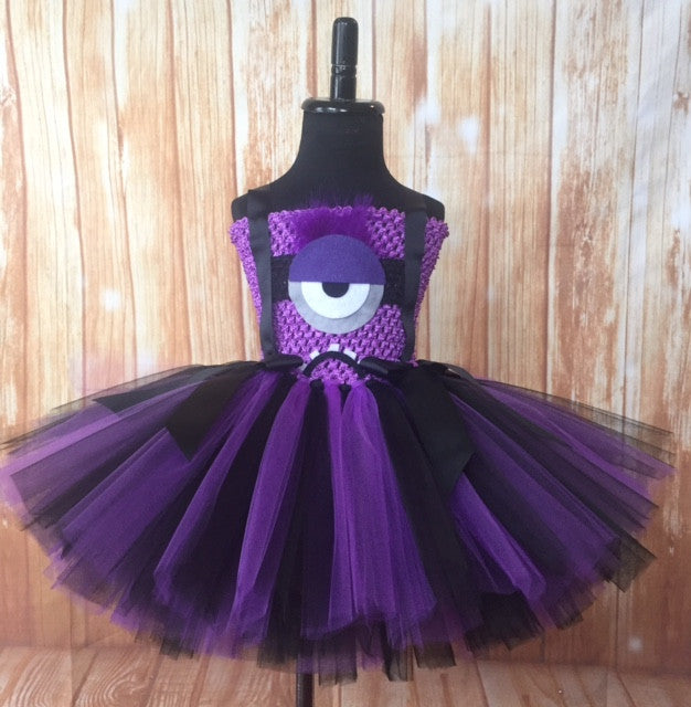 Evil Minion Tutu, Evil Minion Girls Tutu Dress, Minion Tutu, Minion Girls Costume