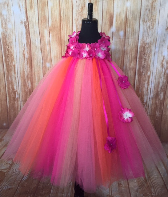 Fuchsia Tutu, Fuchsia Girsl Tutu Dress, Fuchsia Flower Girl Dress, Hot Pink Tutu Dress - Little Ladybug Tutus