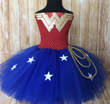 Wonder Woman Tutu, Wonderwoman Tutu, Wonder Woman Tutu Dress, Wonderwoman Tutu Dress, Superhero Tutu, Wonder Woman Costume, Wonder Woman Birthday Tutu, Wonder Woman Birthday Dress, Wonderwoman, Wonder Woman, Girls Wonder Woman - Little Ladybug Tutus