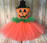 Pumpkin Tutu, Girls Pumpkin Costume, Pumpkin Dress, Pumpkin Halloween Costume - Little Ladybug Tutus