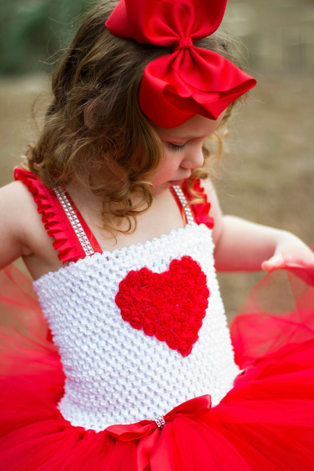"""Texas Size"" Big Solid Color Hair Bow - Little Ladybug Tutus"