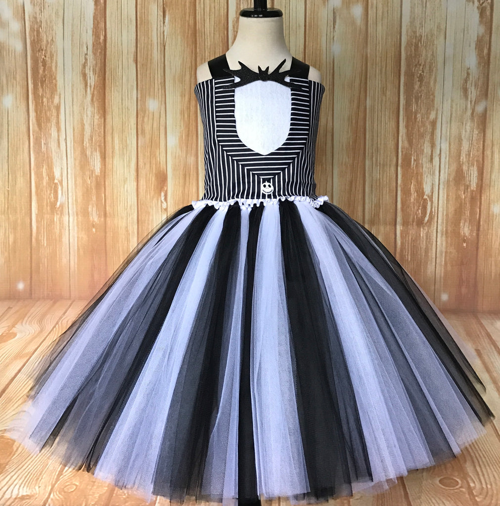 Jack Skellington Tutu, Jack Skellington Girls Tutu Dress, Jack Skellington Tutu Costume