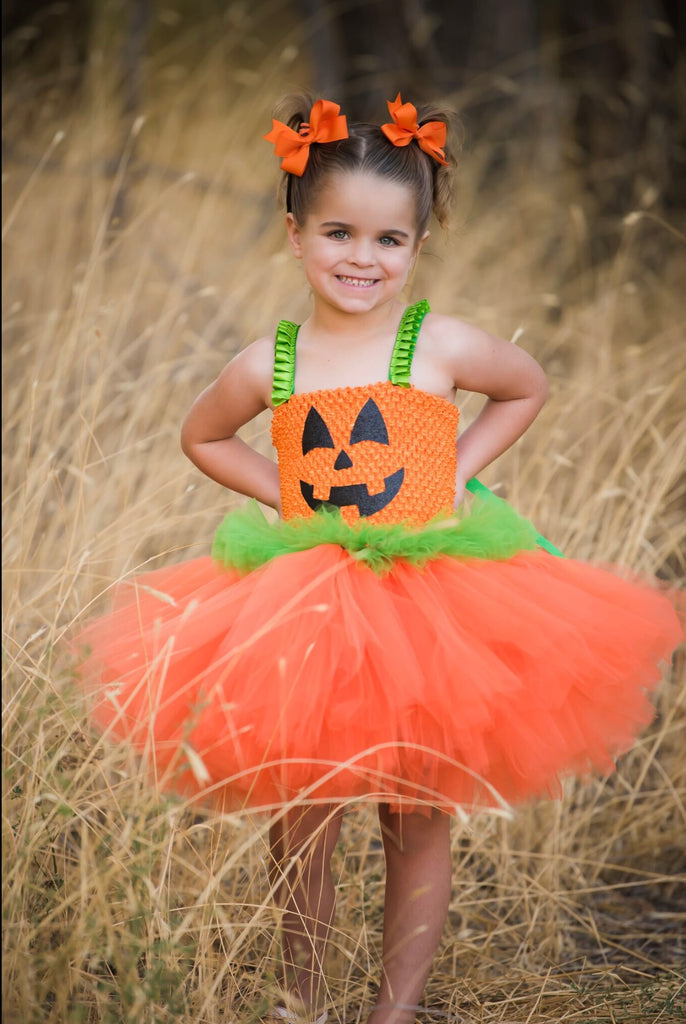 Pumpkin Tutu, Girls Pumpkin Costume, Pumpkin Dress, Pumpkin Halloween Costume