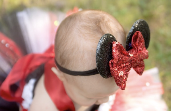 Custom Made Minnie Ears - Little Ladybug Tutus