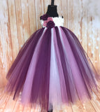 Plum Tutu, Plum Tutu Dress, Plum Flower Girl Dress, Purple Photography Prop Dress - Little Ladybug Tutus