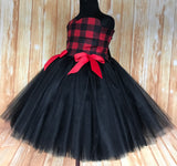 Buffalo Plaid Tutu, Girls Buffalo Plaid Tutu, Girls Christmas Tutu Dress, Girls Buffalo Plaid - Little Ladybug Tutus